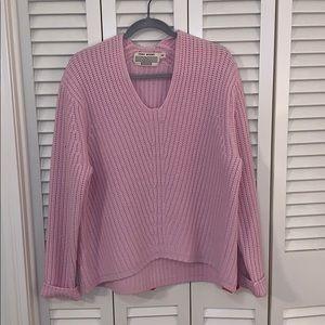 Tory Burch Sport pink chunky sweater